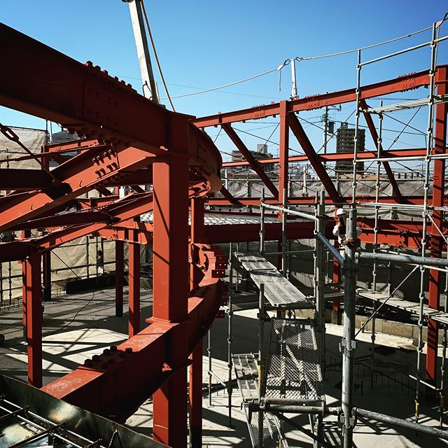 %%Tokushima%%Inspecting steel frames and reinforcements for a house in Tokushima. #structuraldesign #structuralengineering #steelstructure