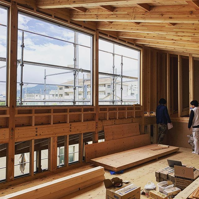 Inspecting #timber #structure for dental clinic in #Shiga. #structuraldesign #structuralengineering #architecture #OHArchitecture