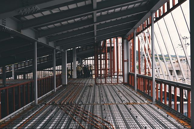 lines and dots#structuralengineering #steelstructure #officebuilding #niigata #reinforcement