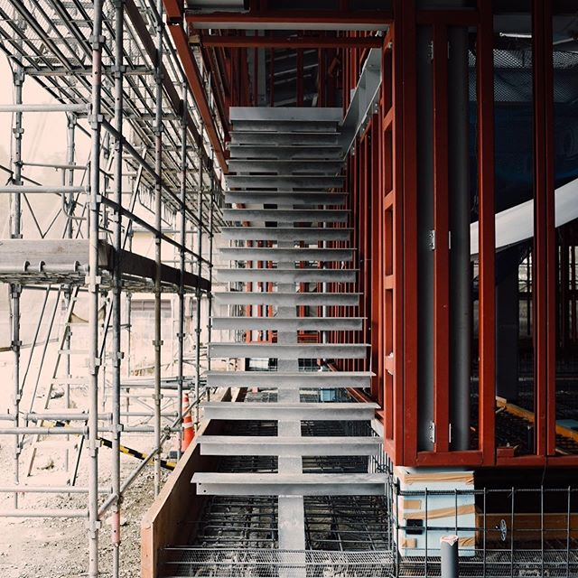#staircase #structuralengineering #architecture #officebuilding #niigata #steelstructure